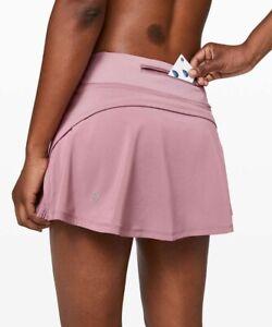 New Lululemon Size 4 Play Off The Pleats Skirt Skort Vintage Mauve Pink 13 inch