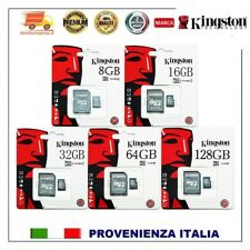 Micro SD 8 GB - M SD 16 GB 32 GB 64 GB 128GB Scheda Memoria CLASS 10 KINGSTON