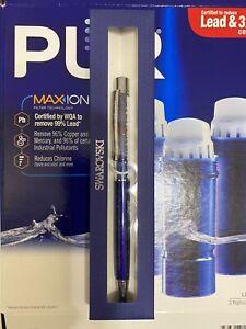 Swarovski Ball Point Pen Crystal Stardust New With Box Dark Blue