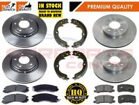 FOR MITSUBISHI OUTLANDER 2.0 2.2 2.4 Di-D 07- FRONT REAR BRAKE DISCS PADS SHOES