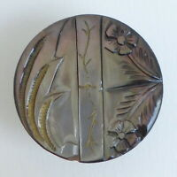 Bouton ancien - Nacre - 31 mm -  XIXe - 19th C. Carved Shell Button +1-1/8 in.