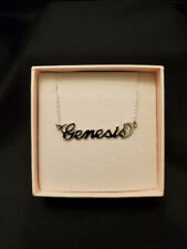 """My Name Necklace Personalized """"Genesis"""" Sterling Silver Necklace"""