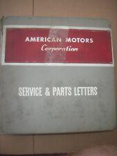 AMC Dealership BINDER book PARTS Nash Ambassador Rebel Rambler