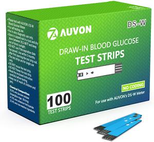 Test Strip 100 Count Blood Glucose Strips For AUVON DS-W Diabetes Sugar Testing