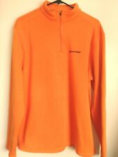 Men's Size Large Realtree Bright Orange Polyester 1/4 Zip Sweater