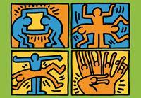 Graffiti Keith Haring - 70x100CM Falso D'Autor - Póster Artístico Street Arte