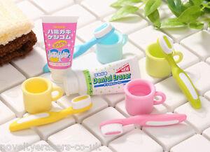 Novelty Japanese IWAKO Puzzle Eraser Rubbers - IWAKO ToothBrush and Mug Erasers