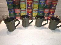 (4) Nice studio Pottery Ceramic Coffee Mugs Cups by ROSS CANADA