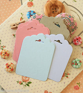 Colour Fancy Scallop TAGS wishing tree wedding favour card making gift wrap tags