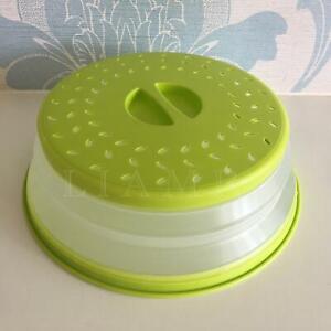 Pop-Up Green Strainer Colander Food Cover Microwave Plate Cover Splatter Guard