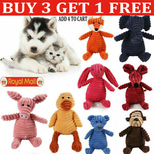 Funny Pet Dog Puppy Chew Toy Squeaker Squeaky Soft Plush Play Sound Teeth Toys-Q