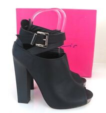 *BNIB* Dolcis Black High Heel Peep Toe Shoe Boots Ankle Straps 3 / 36 Sandals