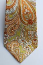 $295.00 KITON NAPOLI 7 FOLDS  PAISELY WOVEN SILK NECK TIE