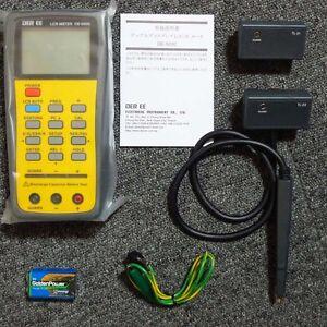 DER EE DE-5000 High Accuracy Handheld LCR Meter - w/ TL-21 TL-22 TL-23 New F/S