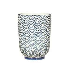Blue Wave Bathroom Tumbler by Sass & Belle, Unique Ceramic Bathroom Accessory