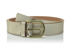 New Fossil Women's Metallic Jean Belt Gold Champagne Size Small