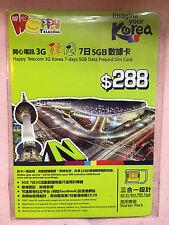 Happy Telecom 3G Hspa South Korea 7 Days 5Gb Data Prepaid Sim Card All Size Sim