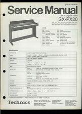 Rare Original Factory Technics SX PX20 PCM Digital Piano Service Manual
