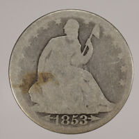 1853 50c LIBERTY SEATED HALF DOLLAR WITH ARROWS & RAYS LOT#H107