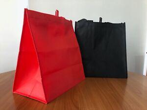 Bulk reusable Non Woven shopping bags BLACK ONLY AVAILABLE - packs of 100