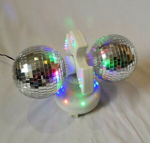 Party Light Double Disco Ball Spinning Rotating Main Powered Light Boxed