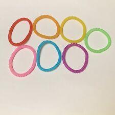Rainbow Thin Spiral Hair Ties Telephone Coil Hair Accessories- 7 PCS BRAND NEW