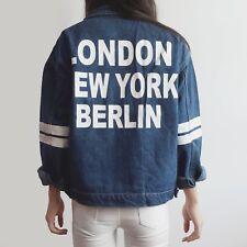 City Girl Denim Jacket (dark denim) size Medium