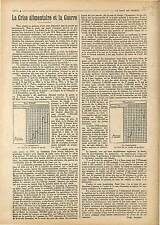 Article Complet de Noël Amaudru Crise Alimentaire et la Guerre Prix de 1918 WWI