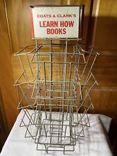 Vintage Display Rack Coats & Clark's Learn How Books Instruction Books