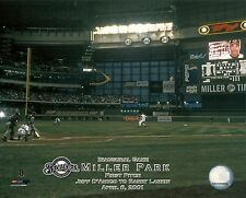 MILLER PARK 8x10 1st Pitch Photo MILWAUKEE BREWERS First Game @ Baseball Stadium