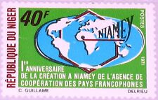 Niger 1971 284 238 1st Ann Founding Coop. Agency French speaking countries map **