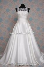 1373 White Ivory Wedding Dresses dress size 10 12 14 16 18 20 22 Melodia a line