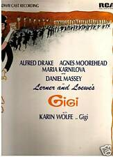 Gigi - 1973 Alfred Drake - Original Broadway Cast LP