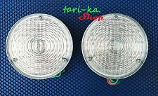 Rear Tail Lights Clear Lens White For Willys Jeep CJ3 CJ5 CJ6 CJ2A CJ3A CJ3B 54