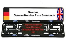 FORD NUMBER PLATE SURROUNDS x2 COSWORTH FIESTA FOCUS RS