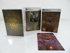 PC - Bioshock Collectors Ed - Big Daddy Figurine - Steel Book - Making Of - Rare