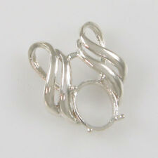 PRENOTCHED 11X9 OVAL PENDANT IN STERLING SILVER CP5039SS