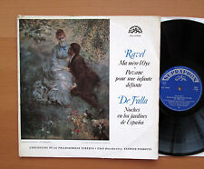 SUA 10494 Ravel Ma Mere L'Oye De Falla Nights Gardens Of Spain Supraphon NM/VG