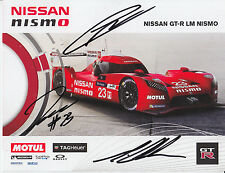 Chilton, Mardenborough, Pla Hand Signed Nissan Nismo Promo Card 2015 Le Mans 1.