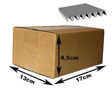 30 Cajas de cartón canal simple. Dimensiones interiores 17x13x8,5cm.