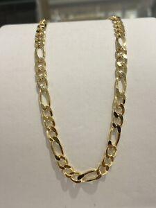 585 GOLD Kette Figarokette 13,6gramm,60cm,Halskette,neu+Etikett.Gelbgold
