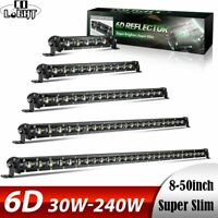 "6D Barre LED Rampe Light bar phare de travail 8"" 14"" 20"" 26"" 32"" 38"" 44"" 50"""