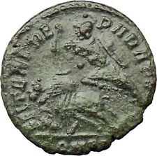 CONSTANTIUS GALLUS 351AD Roman  Ancient Coin BATTLE Horse man i29852