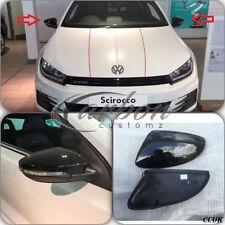 VW SCIROCCO GENUINE OEM WING MIRROR COVERS IN VW FACTORY GLOSS BLACK - PAIR -