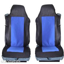 2 / Paire bleu Housses de siège auto sur mesure pour Mercedes CAMION ACTROS AXOR