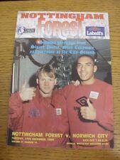 27/12/1994 Nottingham Forest v Norwich City  (Faint Crease)