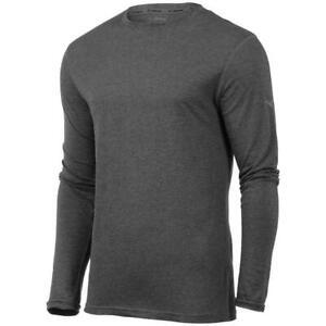 Mizuno Men Inspire Long Sleeve Tee (M) Dark Charcoal 421143 3Y3Y
