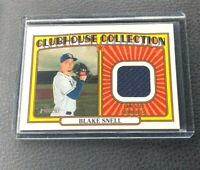 2021 Topps Heritage Baseball Blake Snell Clubhouse Collection Jersey Relic