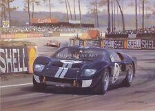 Ford GT40 1966 Le Mans Bruce McLaren Motor Sport Racing Classic Car Art Print