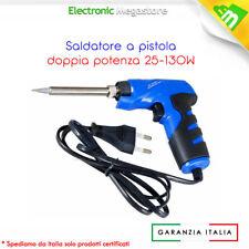 SALDATORE RAPIDO A PISTOLA A STAGNO DOPPIA POTENZA 25/130W 230V